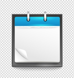 Paper diary on transparent background template for vector