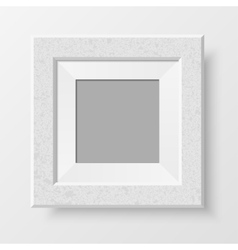 Realistic blank photo frame vector image