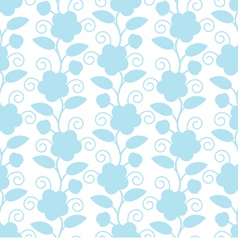 Seamless Floral White Blue Background vector image vector image
