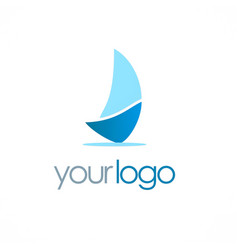 ship sail logo vector image