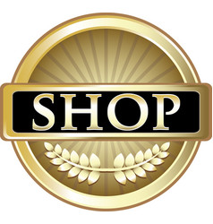 shop gold icon vector image