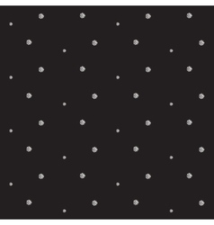 Silver foil glitter polkadot seamless pattern vector image