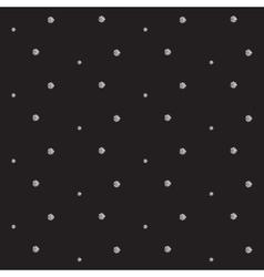 Silver foil glitter polkadot seamless pattern vector