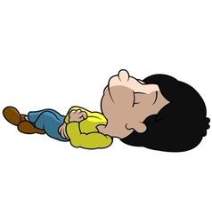Sleeping boy vector