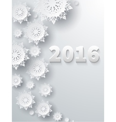 Snowflakes Background 2016 vector image