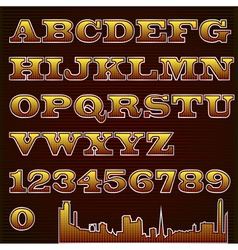 Text font checkered with urban vector