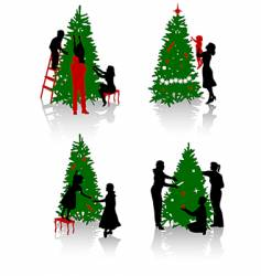 tree decoration vector image vector image