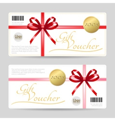 Gift card or gift voucher template vector