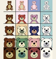 bears funny cartoon animal toy vector image