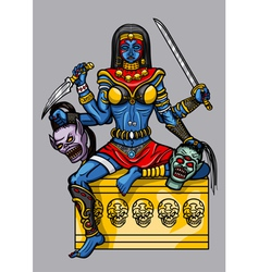 Kali indian goddess vector