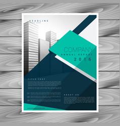 Modern geometric abstract brochure flyer design vector