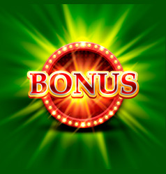 casino bonus banner on a bright green background vector image
