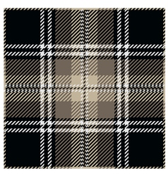 Black tartan pattern design vector