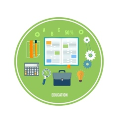 Books and school elements vector image