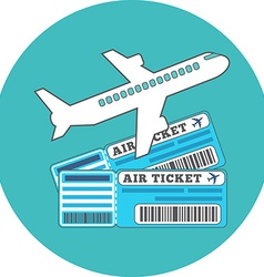 Traveling ticket booking concept flat design icon vector