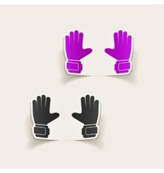 Realistic design element gloves vector