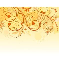 grunge flower background element for design vector image