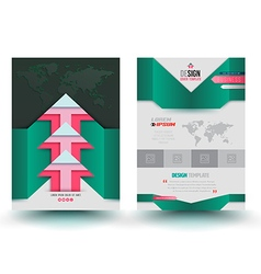 brochure template modern design arrows vector image
