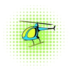 Helicopter icon comics style vector
