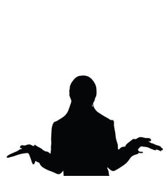 Girl pose silhouette vector