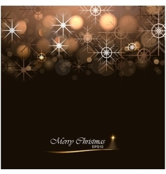 Christmas background with lights and snowflakes vector