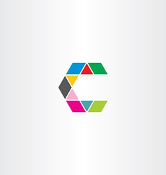 Letter c sign symbol icon logotype colorful logo vector