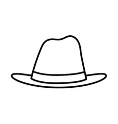 Hat icon male cloth design graphic vector