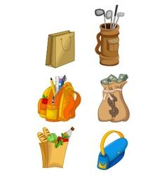 Cute house equipment cartoon vector