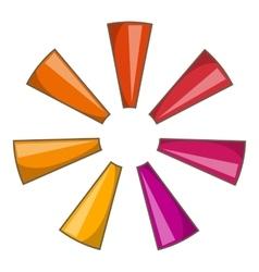 Abstract circle icon cartoon style vector