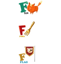 Alphabet letter - f vector