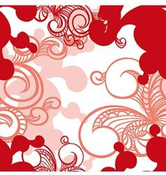 Beautiful seamless pattern with swirls vector