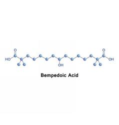 Bempedoic acid cholesterol lowering vector image