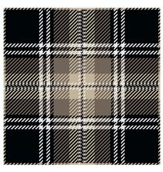 Black Tartan Pattern Design vector image vector image