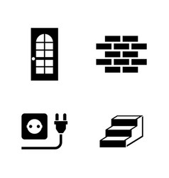 Building house simple related icons vector