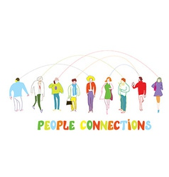 Business people concept - connection or banner vector image vector image