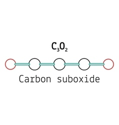 C3o2 carbon suboxide molecule vector