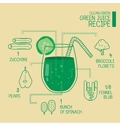 Clean green green juice recipes great detoxify vector