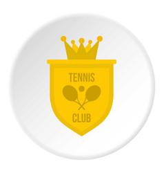 Coat of arms of tennis club icon circle vector