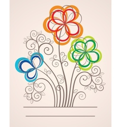 Colorful background with abstract flowers vector