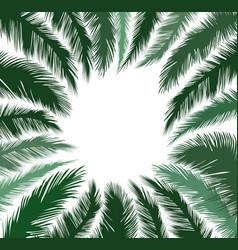 floral background summer leaves flourish border vector image vector image