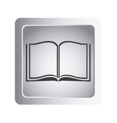 Gray book open icon vector