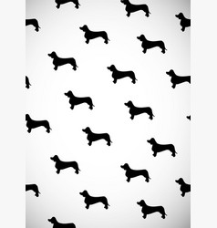 greeting card with black silhouettes of dog breed vector image
