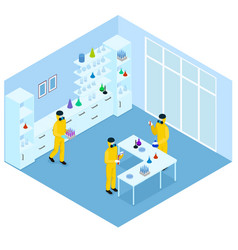 Isometric science research concept vector