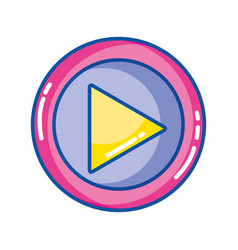 music symbol design style icon vector image vector image