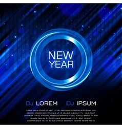 New year party flyer club party flyer vector