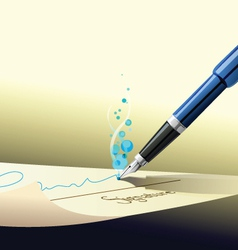 pen sign contract vector image vector image