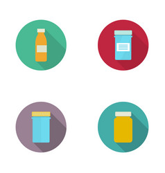 Pill bottle for capsules vector