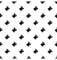 Pinscher dog pattern simple style vector