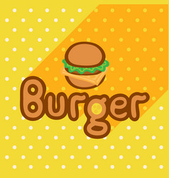 Poster in flat style with burger vector