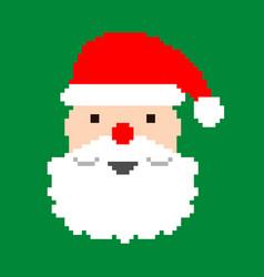 Santa - pixel art vector